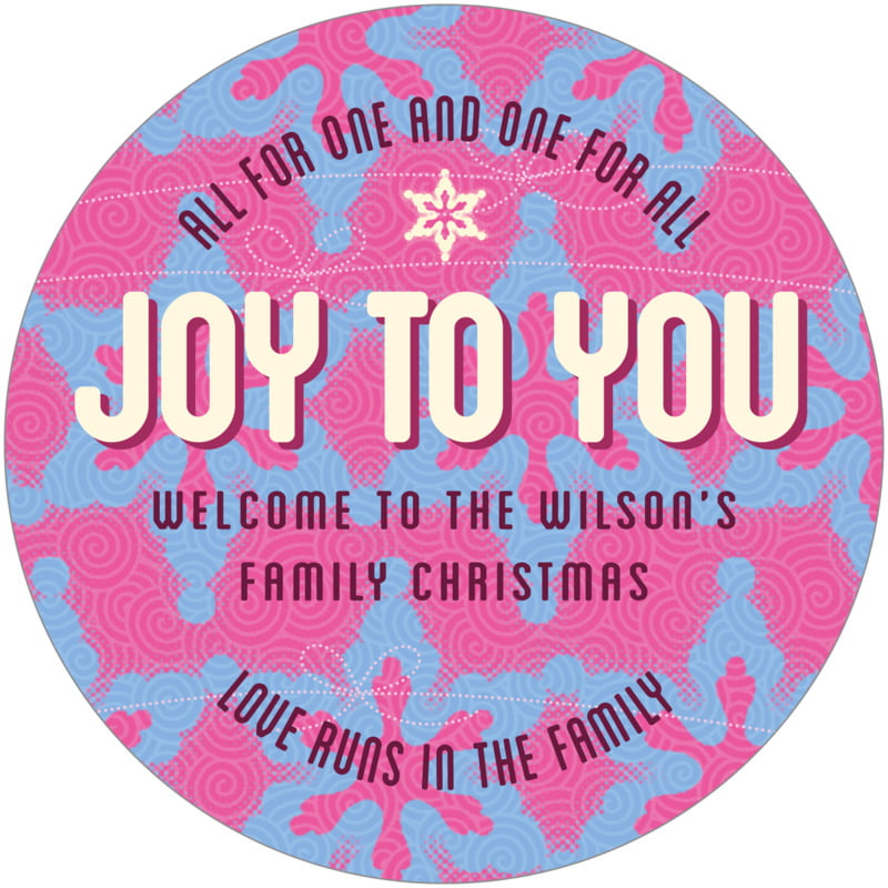 round holiday coasters - bright pink - mist & snow (set of 12)