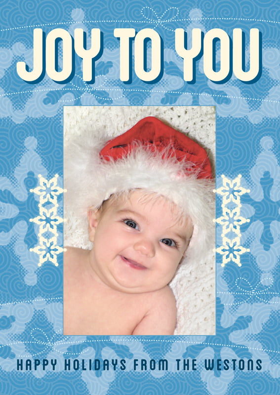 holiday cards - blue - mist & snow (set of 10)