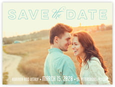 Modern Union Save The Date Card In Aruba