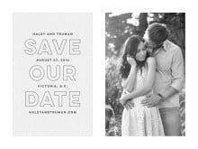 custom save-the-date cards - stone - modern story (set of 10)