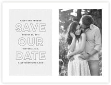 Modern Story Save The Date Card In Stone