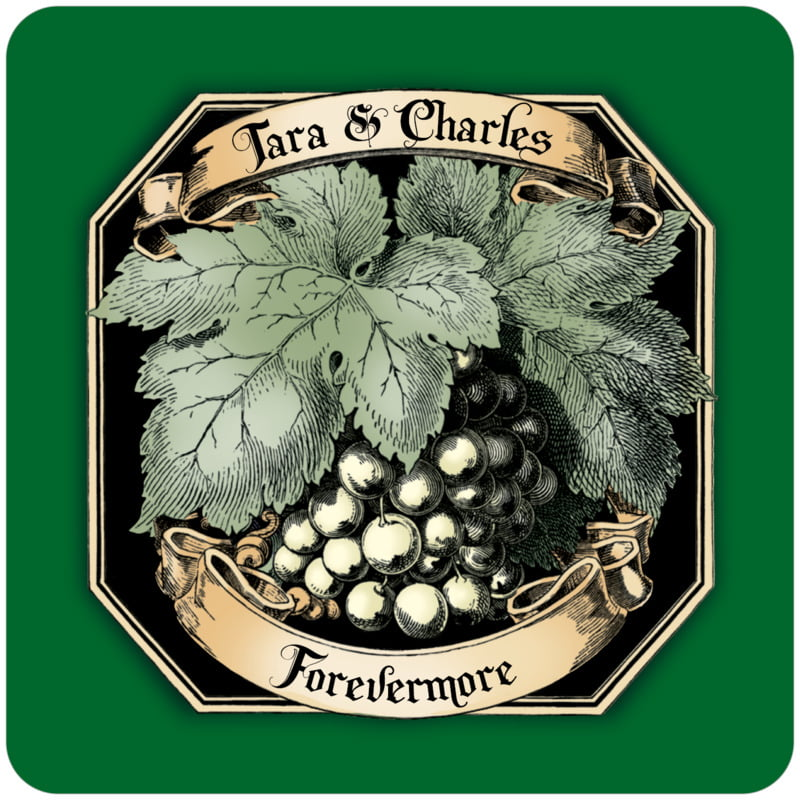 square wine coasters - deep green - meritage white (set of 12)