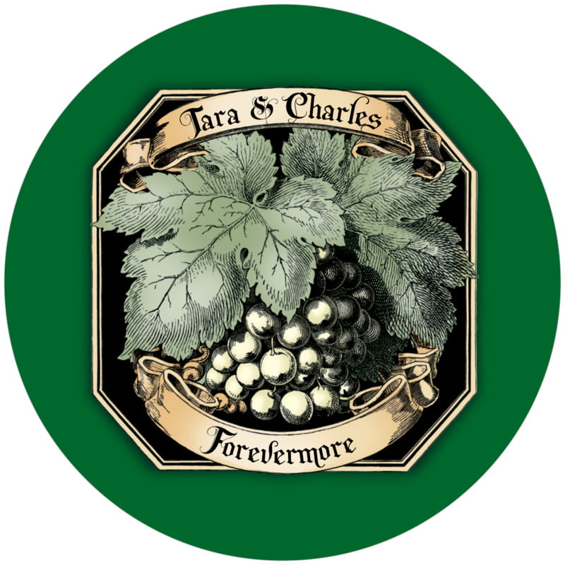 round wine coasters - deep green - meritage white (set of 12)