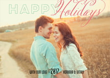 holiday cards - grapefruit - modern holiday (set of 10)