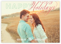 Modern Holiday photo cards - horizontal