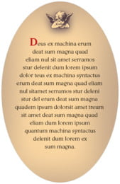 Neufchatel oval text labels