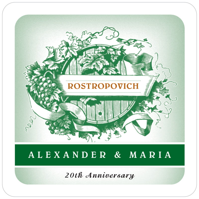 square wine coasters - deep green - neufchatel (set of 12)