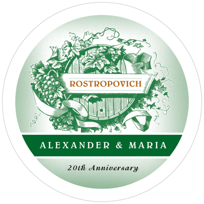 round wine coasters - deep green - neufchatel (set of 12)