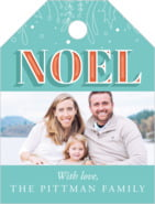 Noel Small Luggage Tag In Jade