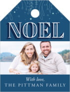 Noel small luggage tags