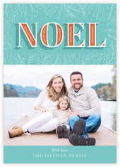 Noel Photo Cards - Vertical In Jade