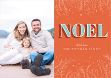 holiday cards - orange - noel (set of 10)