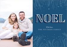 holiday cards - deep blue - noel (set of 10)
