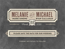 custom save-the-date cards - tuxedo - neue retro (set of 10)