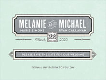 custom save-the-date cards - sea glass - neue retro (set of 10)