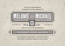 custom invitations - warm grey - neue retro (set of 10)
