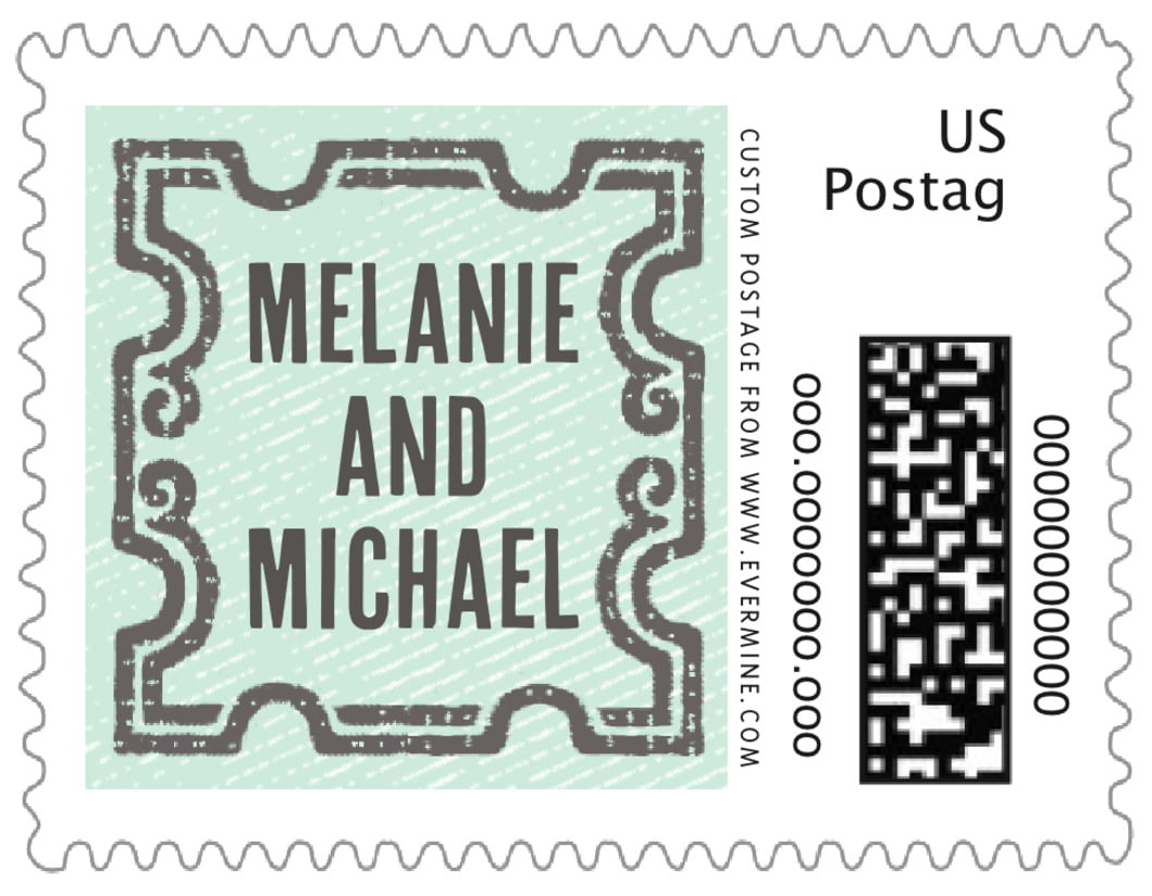 small custom postage stamps - sea glass - neue retro (set of 20)