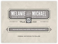 Neue Retro save the date cards