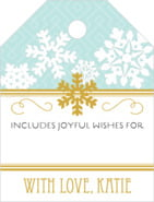 Snowflake Policy Small Luggage Gift Tag In Sea Glass