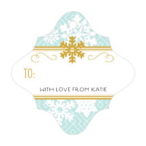 Snowflake Policy fancy diamond gift tags