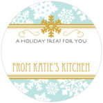 Snowflake Policy small circle gift labels