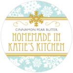 Snowflake Policy christmas labels