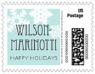 Snowflake Policy custom postage stamps