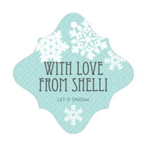 Snowflake Policy fancy diamond hang tags