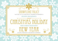 holiday cards - sea glass - snowflake policy (set of 10)