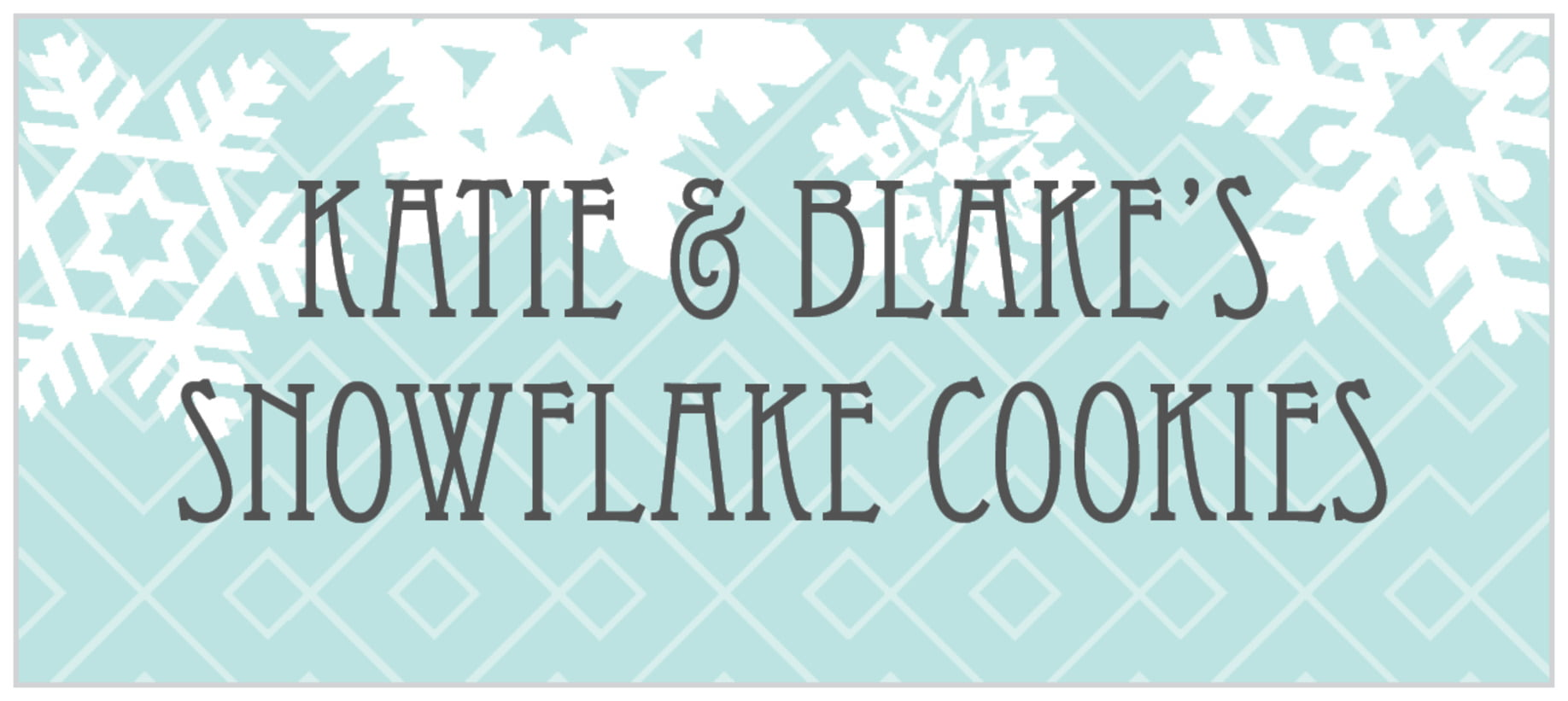 small rectangle food/craft labels - sea glass - snowflake policy (set of 24)