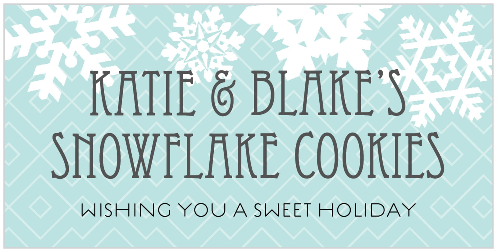 small rectangular food/craft labels - sea glass - snowflake policy (set of 24)