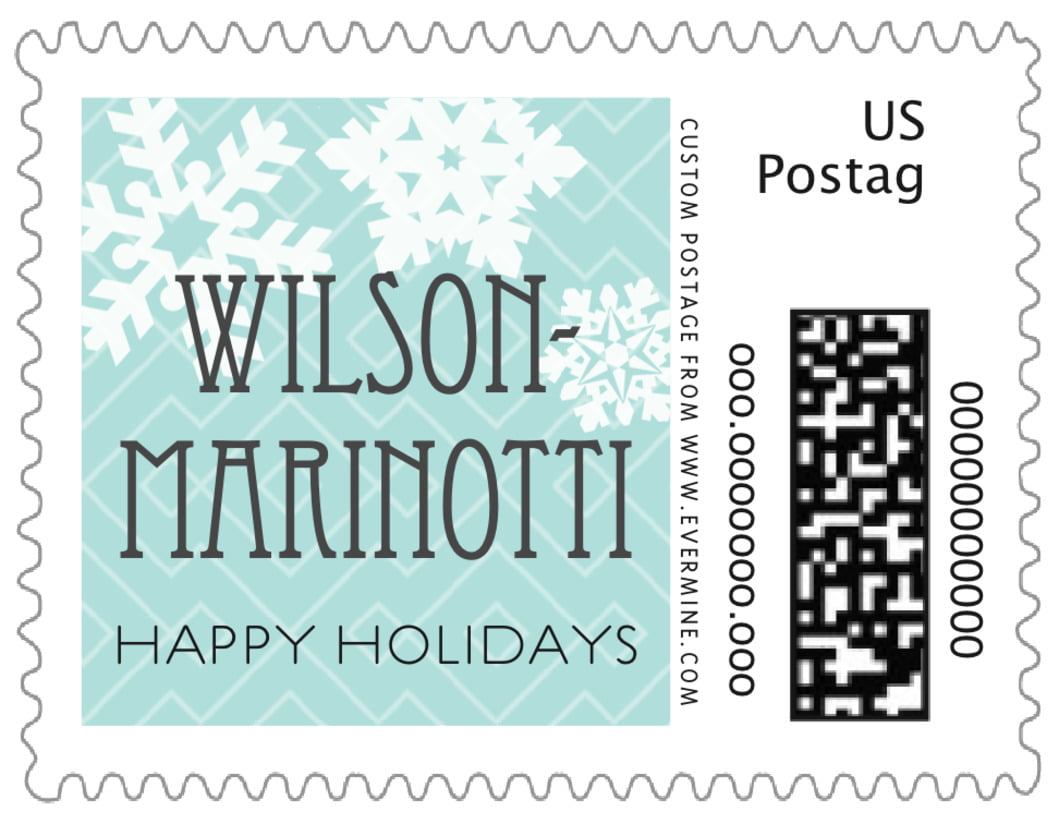 small custom postage stamps - sea glass - snowflake policy (set of 20)