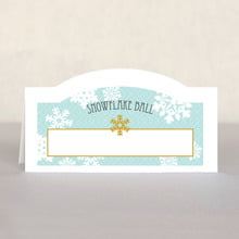 Snowflake Policy place cards
