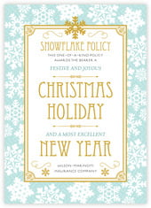 Snowflake Policy photo cards - vertical