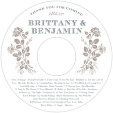 Bountiful Botanical Cd Label In Warm Grey