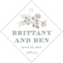 Bountiful Botanical Diamond Hang Tag In Warm Grey
