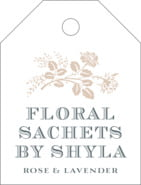Bountiful Botanical small luggage tags