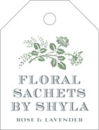 Bountiful Botanical Small Luggage Tag In Sage