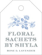 Bountiful Botanical Small Luggage Tag In Serenity