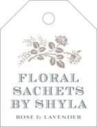 Bountiful Botanical Small Luggage Tag In Warm Grey