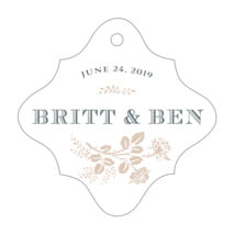 Bountiful Botanical fancy diamond hang tags