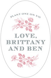 Bountiful Botanical tall oval labels