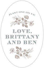 Bountiful Botanical Tall Oval Label In Warm Grey