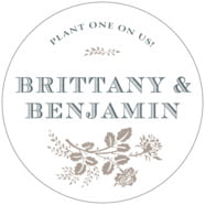 Bountiful Botanical Large Circle Label In Warm Grey