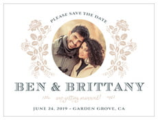 Bountiful Botanical save the date cards