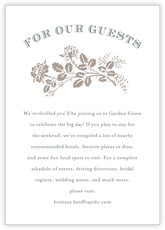 Bountiful Botanical Enclosure Card In Warm Grey