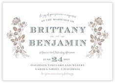 Bountiful Botanical invitations