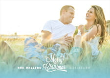 holiday cards - sky - ombre christmas (set of 10)