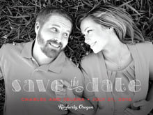 custom save-the-date cards - red - oh darling (set of 10)