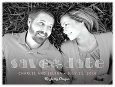 Oh Darling wedding save the date postcards